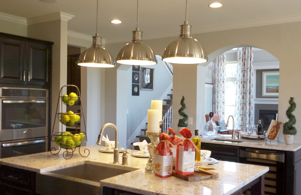 kitchen in model home