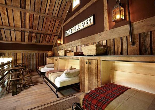 sleeping accomodations in the music barn
