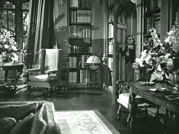 the library at Manderley in Rebecca
