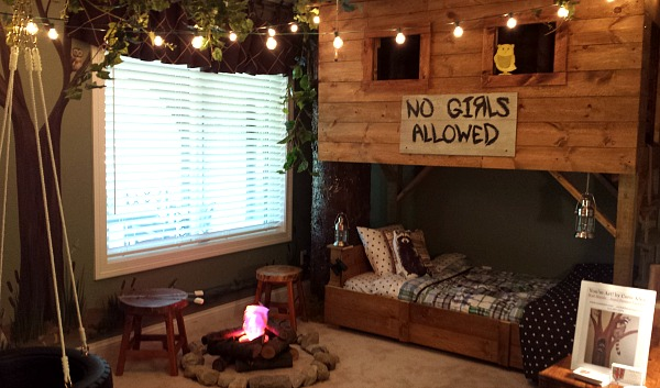 Treehouse themed child's bedroom at Homearama