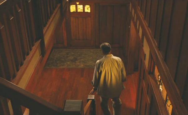 Zathura movie house Craftsman staircase