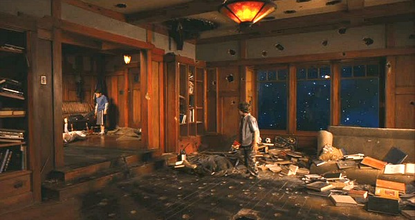 Zathura movie house torn apart meteor shower