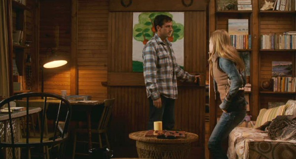 sliding barn door in Dan in Real Life movie house