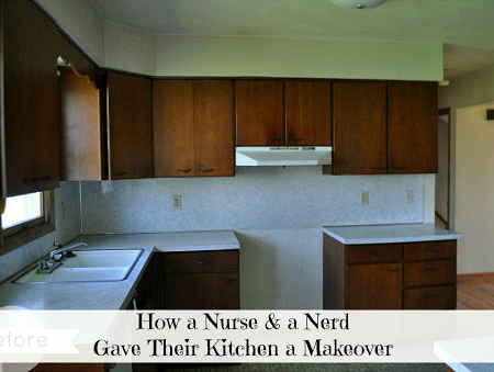 A Nurse and a Nerd's Kitchen Makeover BEFORE