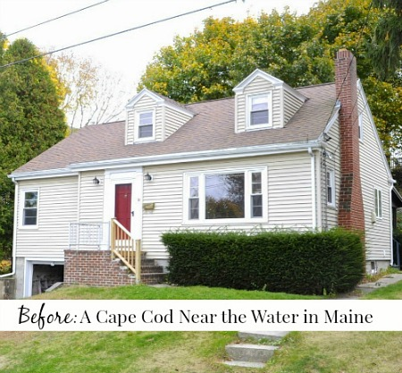 A craftsman style bungalow makeover in maine by sopo cottage for Craftsman cape cod