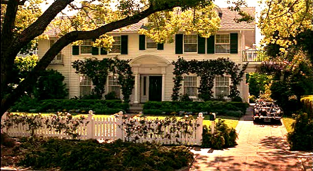 Father of the Bride movie house picket fence