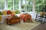 Julia's Sunroom Decorated for Fall | hookedonhouses.net