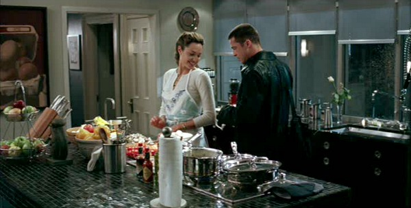 Mr. and Mrs. Smith movie house kitchen