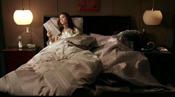Mr. and Mrs. Smith movie house master bedroom