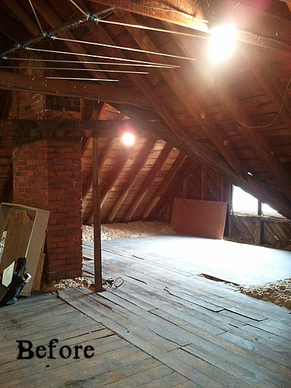 Old Victorian Attic before it was finished