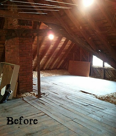 Old Victorian Attic before sm