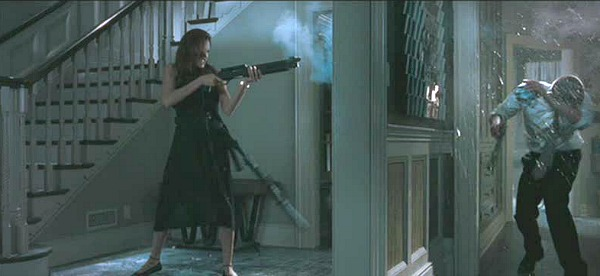Shooting up the Mr. and Mrs. Smith House