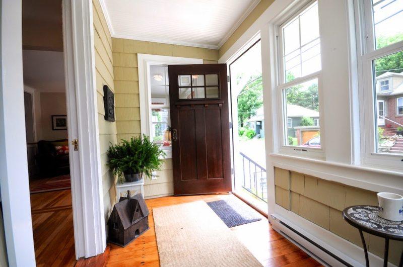 Craftsman door opens into bungalow