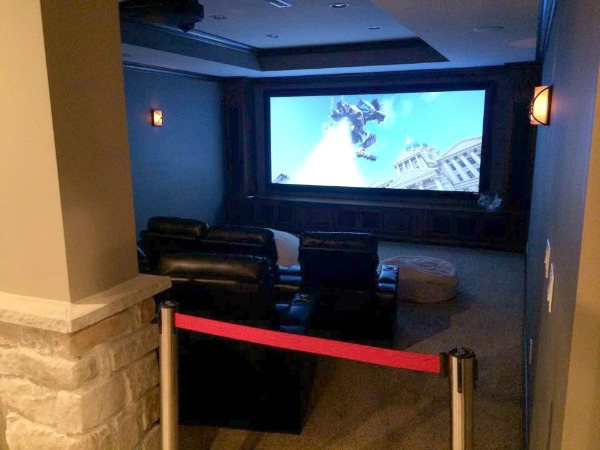 home theater at Homearama
