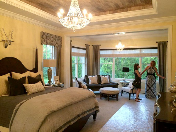 master suite with sitting room