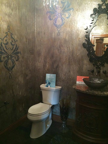 powder room at homearama