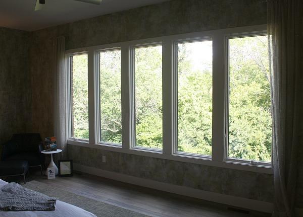 window wall in bedroom