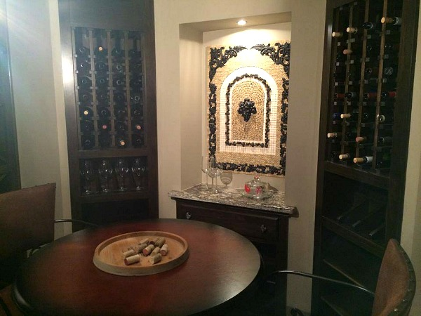 wine room at Homearama