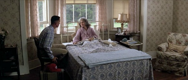 Mama Gump in her bed