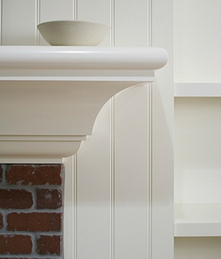 closeup of mantel in House at Surfside
