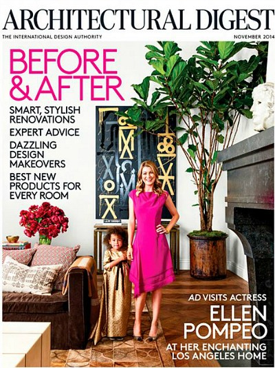 Architectural Digest Ellen Pompeo Nov 14 issue