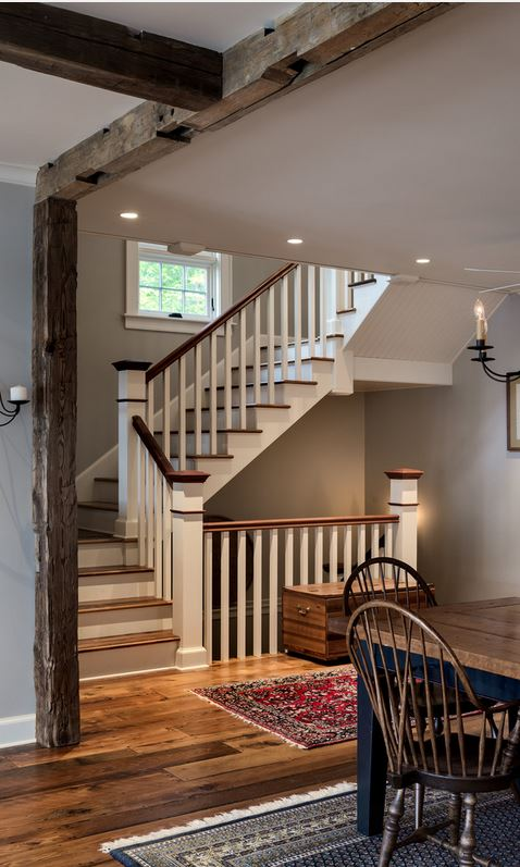 staircase in lake house