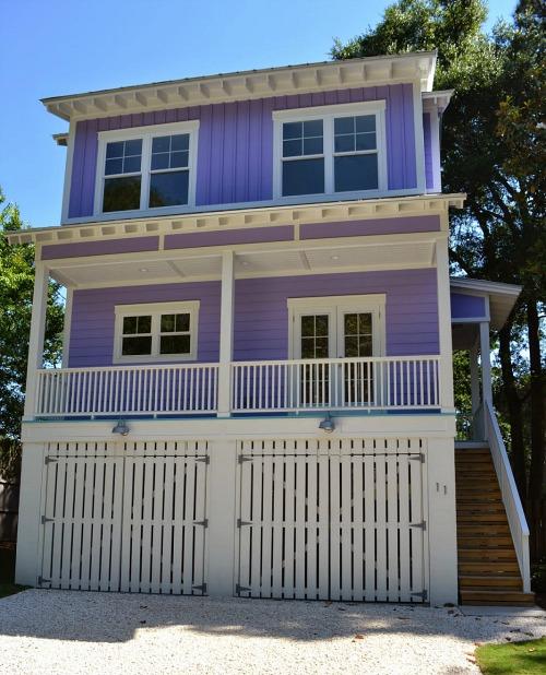 Small House On The Beach: Building A Tiny Purple Beach House On Tybee