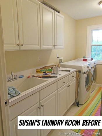 Susan's Colorful Laundry Room BEFORE | hookedonhouses.net