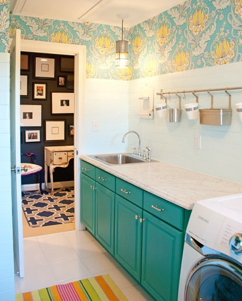 "Laundry Room Pantry Ideas Benjamin Moore Antique White: A Laundry Room's ""Wow!"" Makeover"