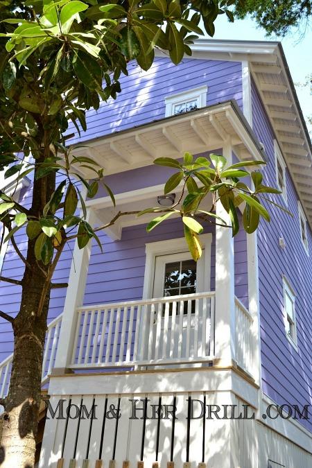 tiny purple beach house on Tybee island