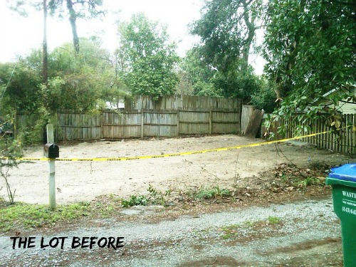 empty lot before building