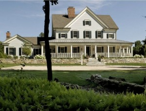Modern Farmhouse with wraparound porch