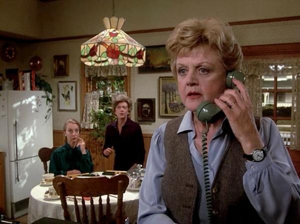 Angela Lansbury in Murder She Wrote kitchen
