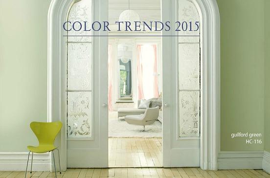 Benjamin Moore Color of 2015 Guildford Green