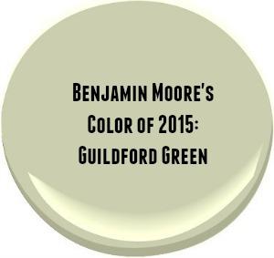 Benjamin Moore Guildford Green Color of 2015