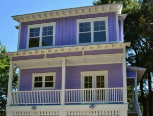Building a tiny purple beach house on Tybee Island