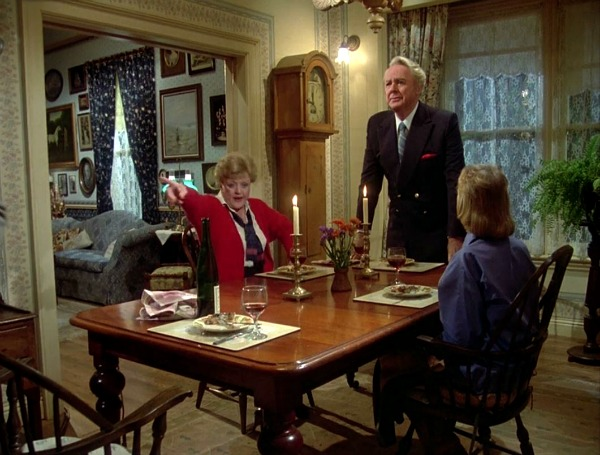 dining table in Angela Lansbury\'s house in Murder She Wrote