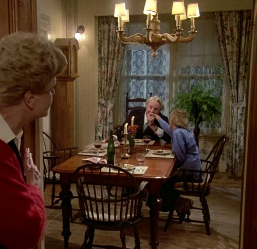 dining room of Angela Lansbury\'s house in Murder She Wrote