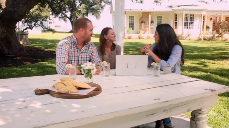 Joanna Gaines with clients Magnolia Farm
