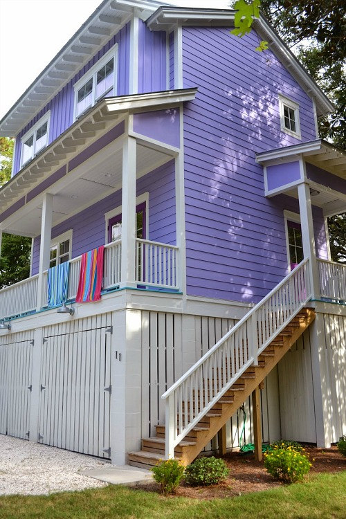 Building a tiny purple beach house on Tybee Island feature