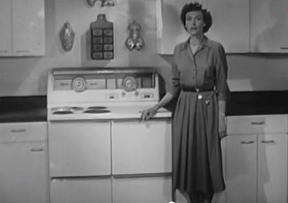 Advertisement for Hotpoint Stove Ozzie and Harriet Show