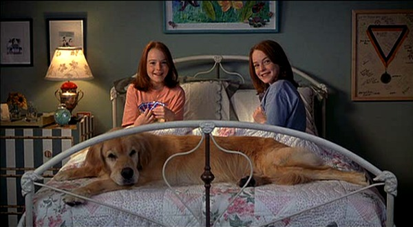 "Lindsay Lohan as the twins in ""The Parent Trap"""
