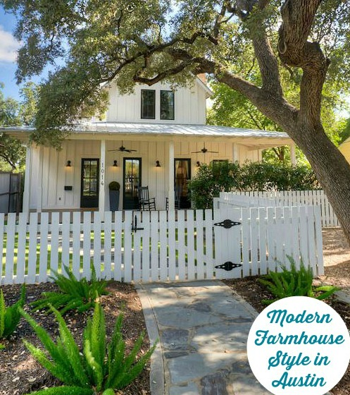 A Modern Farmhouse For Picket Fence Included