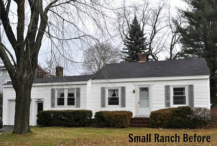 A small bungalow gets a second story for Two story ranch house
