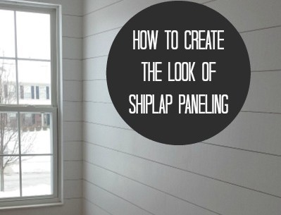 How to Hang (Fake) Shiplap in Your House | hookedonhouses.net