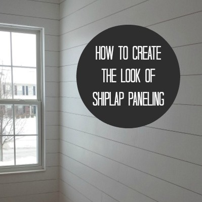 How to Hang (Fake) Shiplap in Your House   hookedonhouses.net