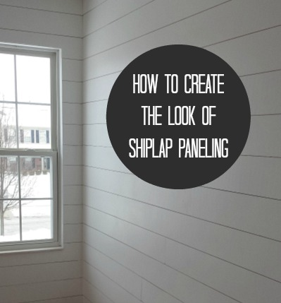 How to Create the Look of Shiplap Paneling