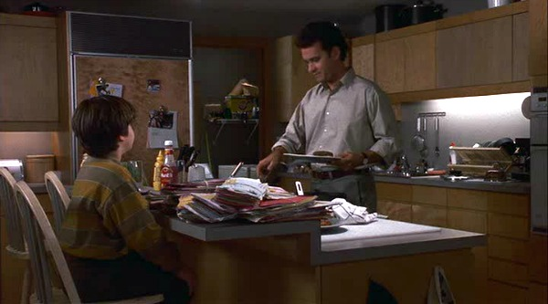 Tom Hanks in Sleepless in Seattle kitchen