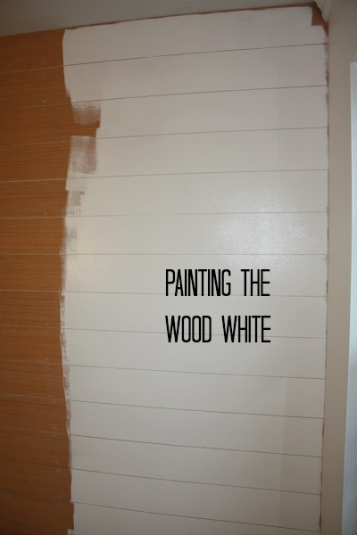painting the wood white