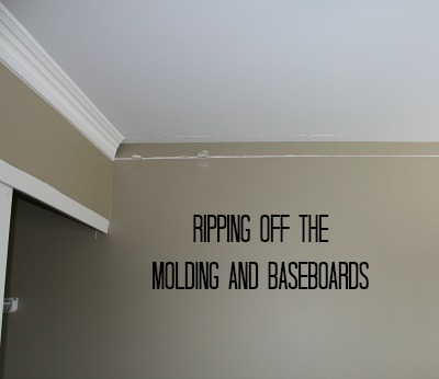 taking down crown molding